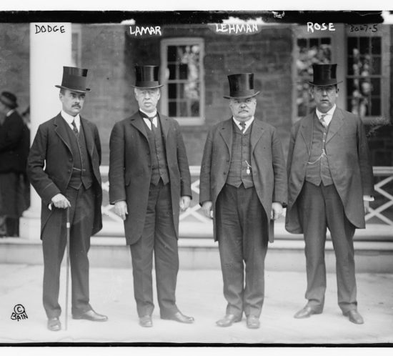 Henry_Percival_Dodge,_and_Joseph_Rucker_Lamar,_and_Frederick_William_Lehmann,_and_Robert_F._Rose_at_the_Niagara_Falls_peace_conference_in_1914